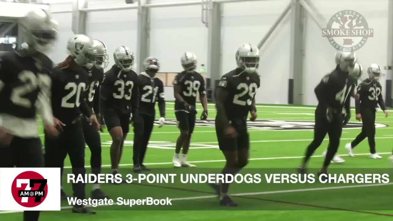 7@7AM Raiders 3-Point Underdogs Against Chargers