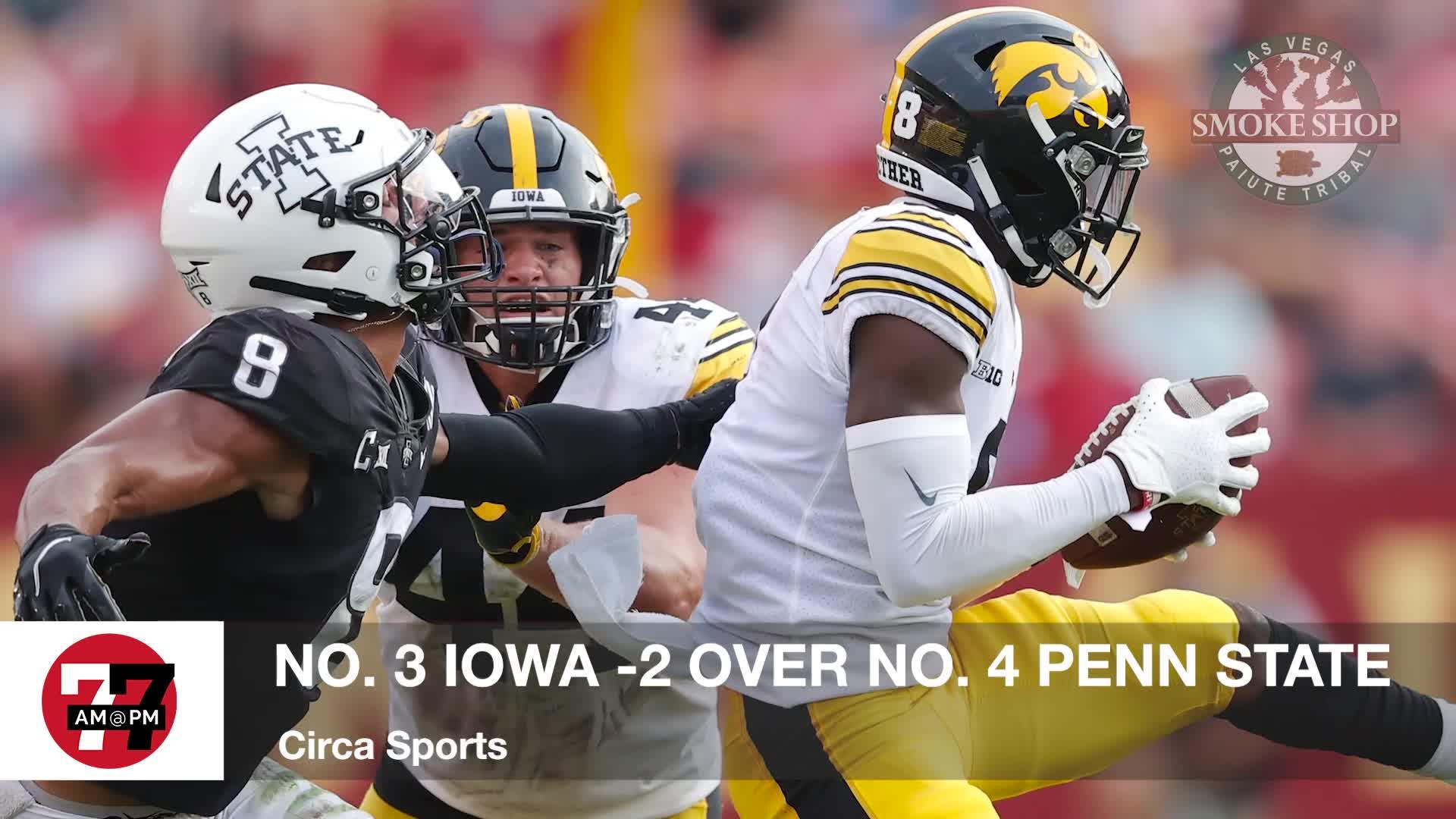 7@7PM Iowa -2 Over Penn State