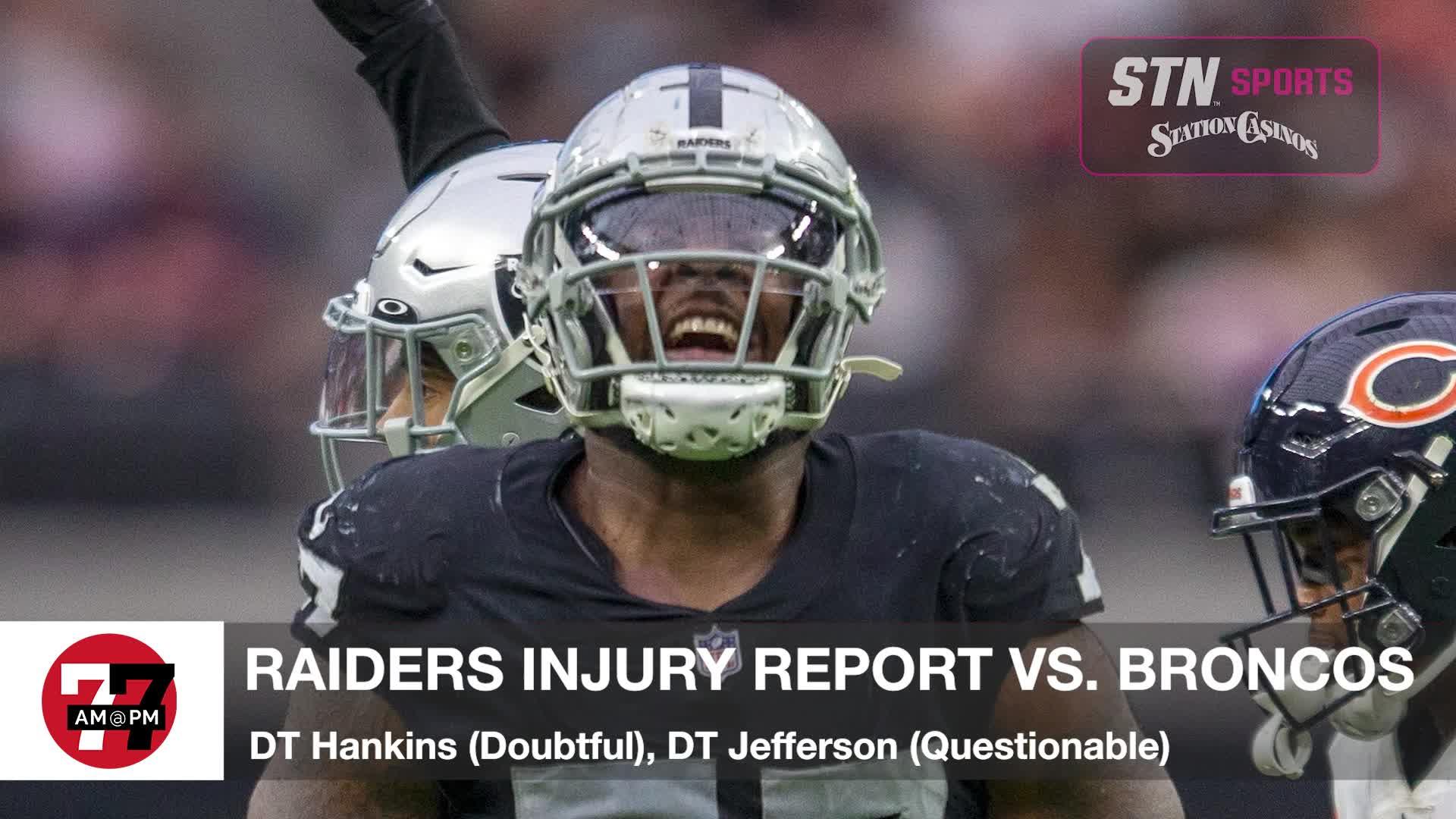7@7PM Raiders Injury Report
